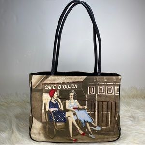 Novelty 1950s Themed Retro Style Tote Bag
